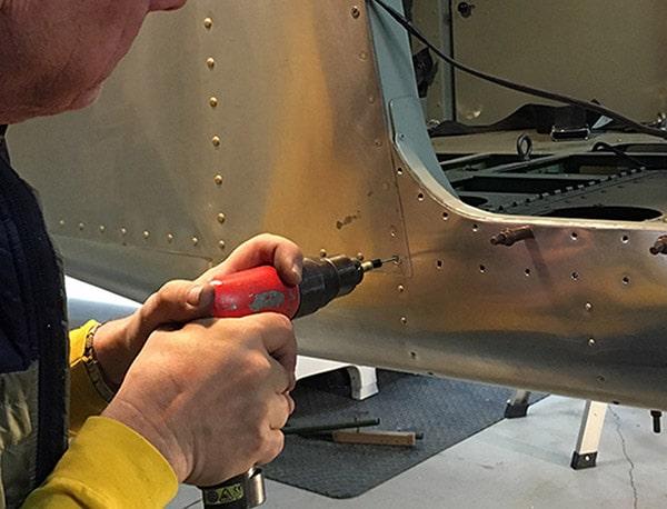 MicroLimit Deburring Tool by Cogsdill deburring aircraft skin