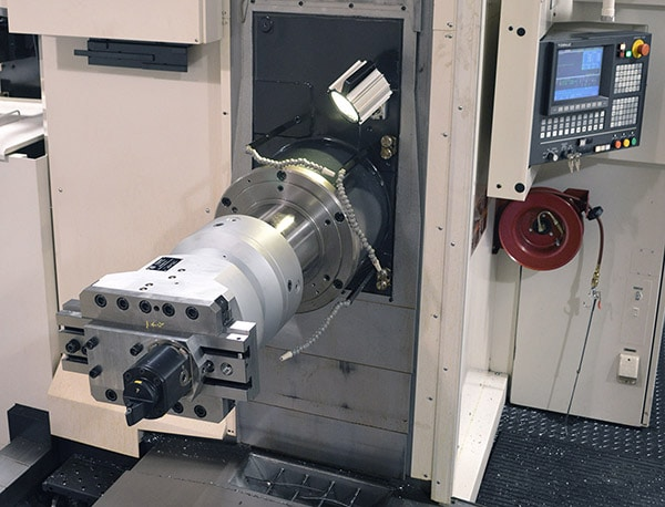 ZX420 Contouring Head installation on a HBM - Innovative Tooling Solutions by Cogsdill