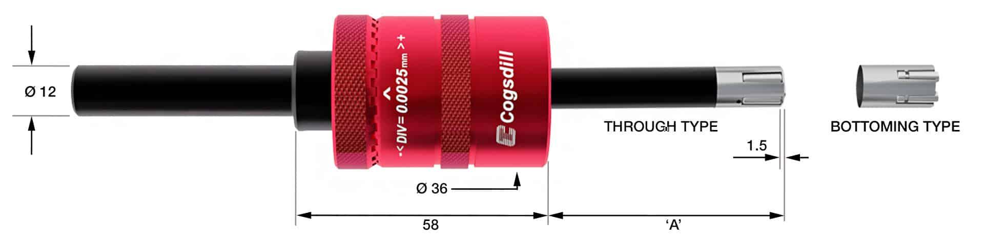 Esquema de bruñido de rodillos SRM12-6-125